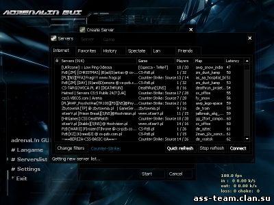 Поиск серверов в Интернете в Counter-Strike 1.6
